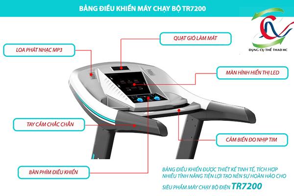 bảng điều khiển máy chạy bộ điện tr-7200
