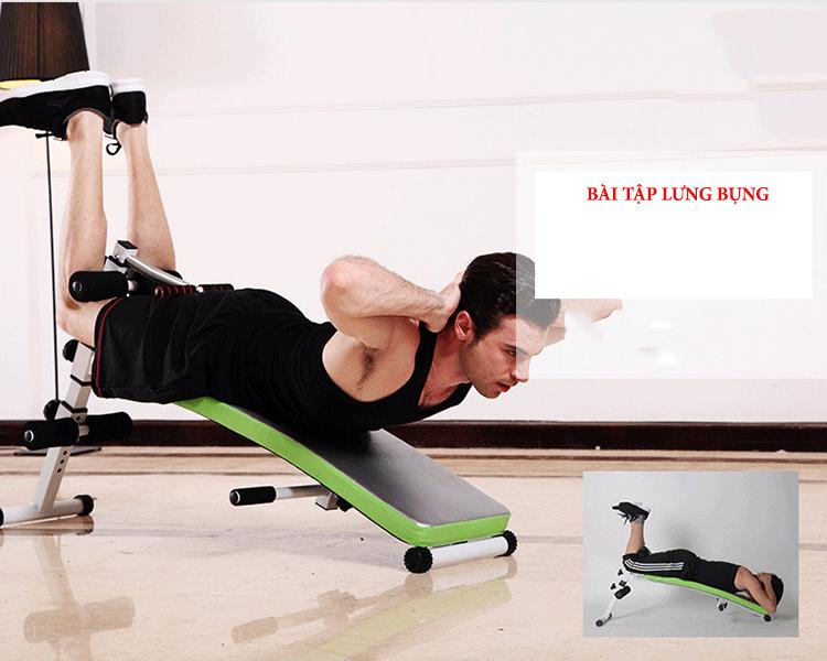 hướng dẫn tập luyện với ghế cong tập bụng