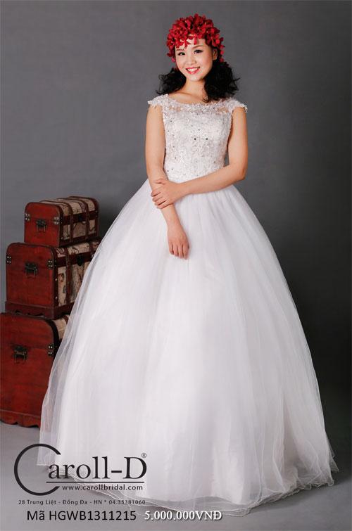 áo cưới dáng bồng