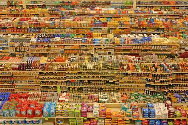 hàng hóa tại siêu thị Mỹ