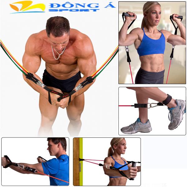 Các tư thế tập luyện với dây đàn hồi