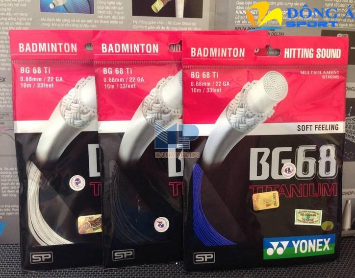Dây đan vợt cầu lông Yonex BG 68 Ti
