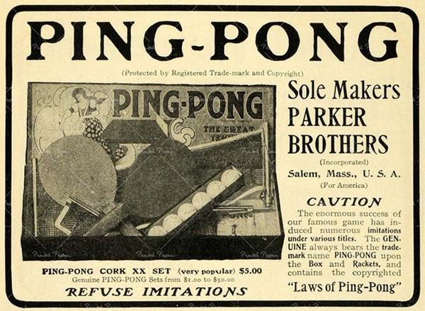 lịch sử bóng bàn ping pong