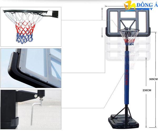 Kích thước của trụ bóng rổ S021A