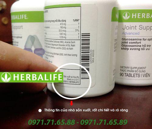 sản phẩm hỗ trợ xương khớp Herbalife Joint Support Advanced