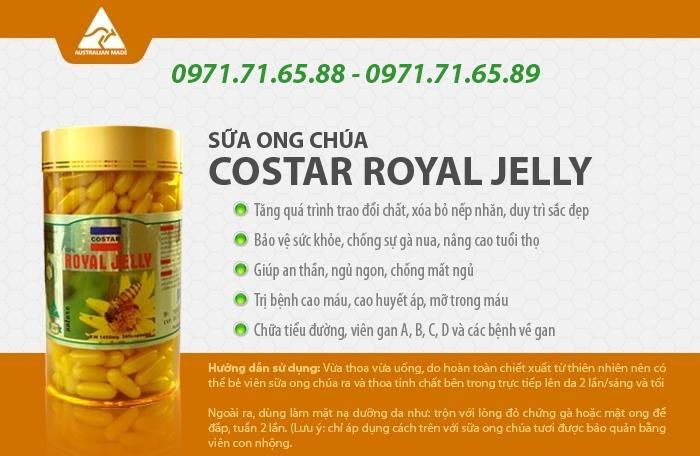 Sữa ong chúa Royal Jelly Healthy Care, sữa ong chúa
