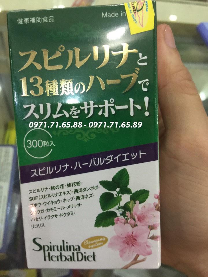 Tảo Spirulina Herbal Diet giảm cân Nhật Bản