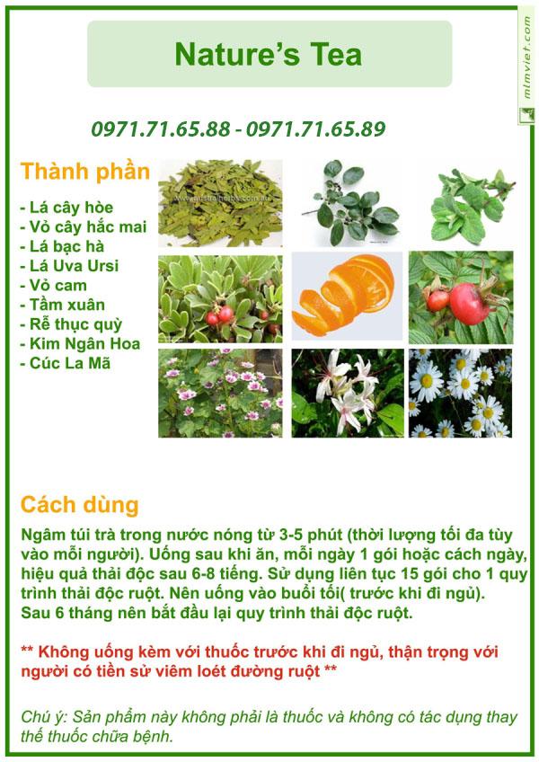 Trà thải độc từ thiên nhiên Nature's Tea Unicity chính hãng