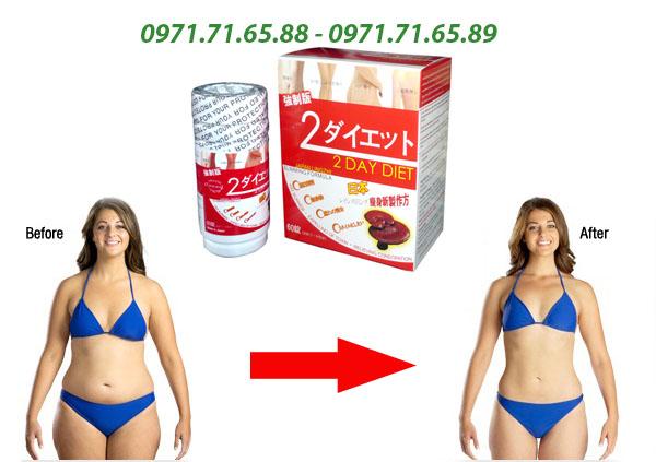 Thuốc giảm cân 2 day diet nấm linh chi chính hãng