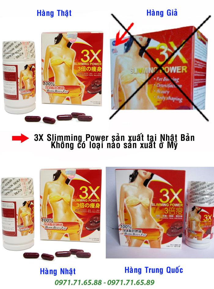 Thuốc giảm cân 3x Slimming Power của Nhật Bản thật