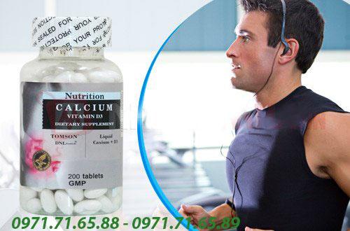 viên uống bổ sung Canxi Tomson Calcicum Vitamin D3 chính hãng