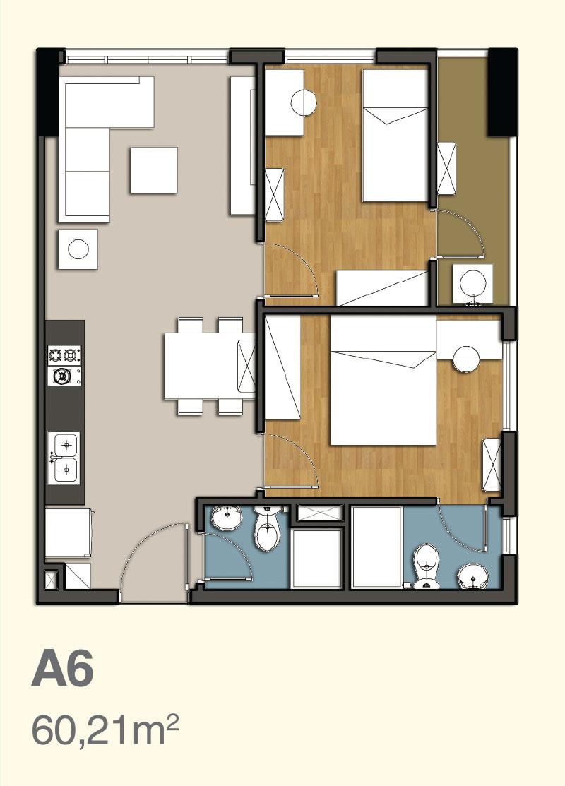 mặt bằng căn hộ 9 view 5