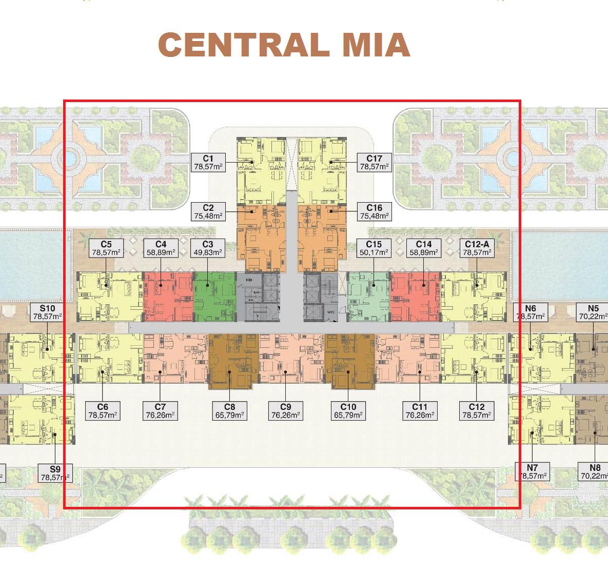 mặt bằng dự án căn hộ saigon mia-3