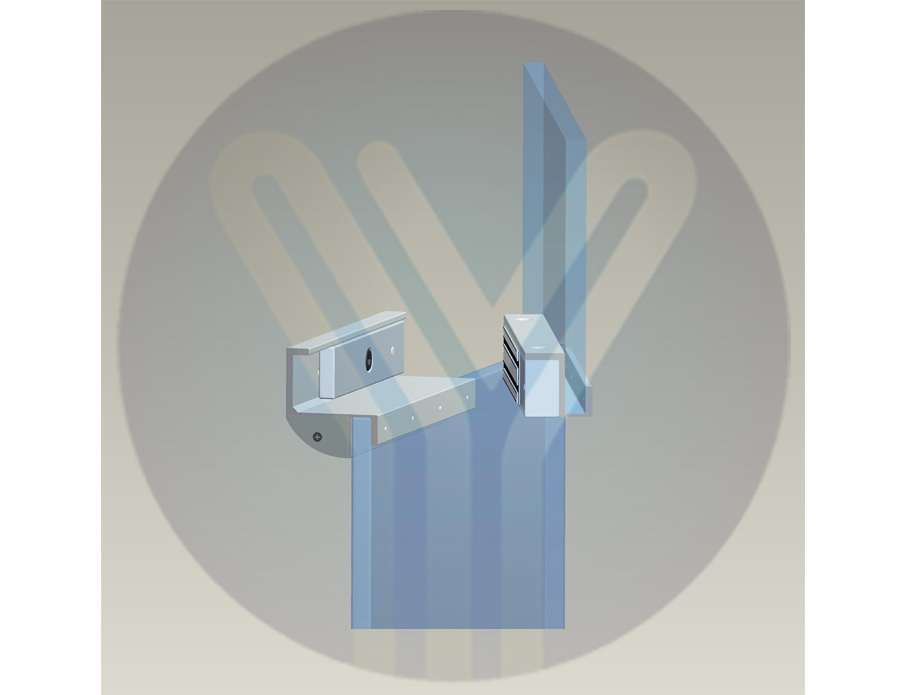 Bộ gá khóa từ dùng cho cửa kính MBK-280GZC