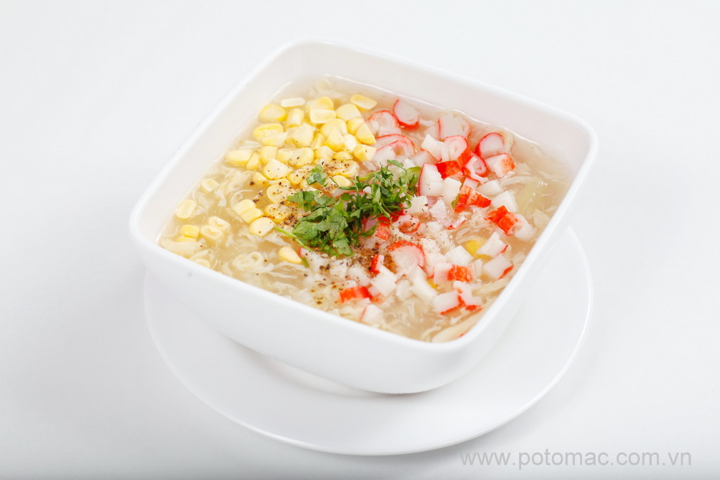 soup ngo non thit cua