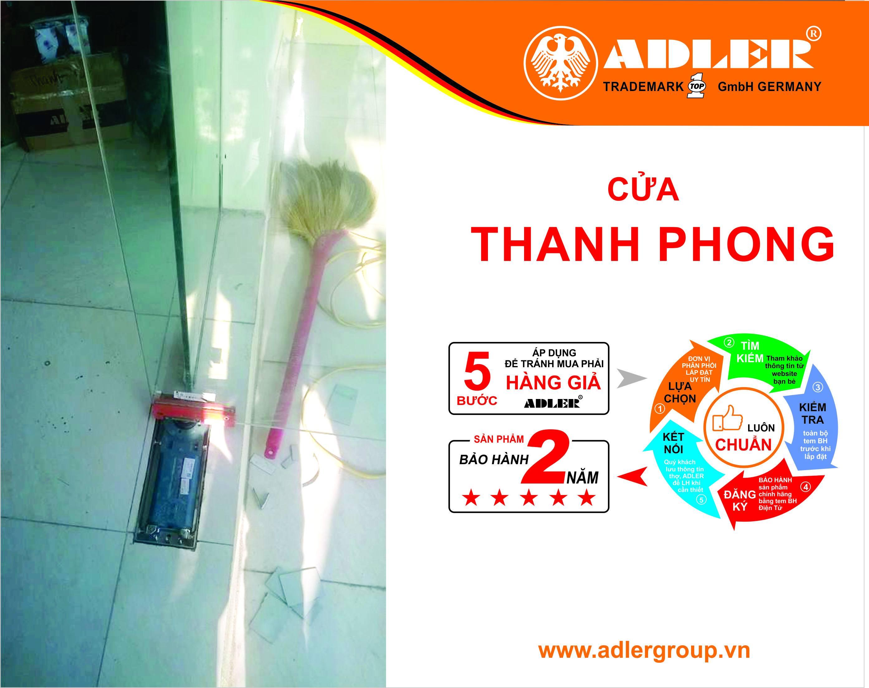 SẢN PHẨM ADLER - NIỀM TIN CỦA THANH PHONG, CỦA MỌI NHÀ