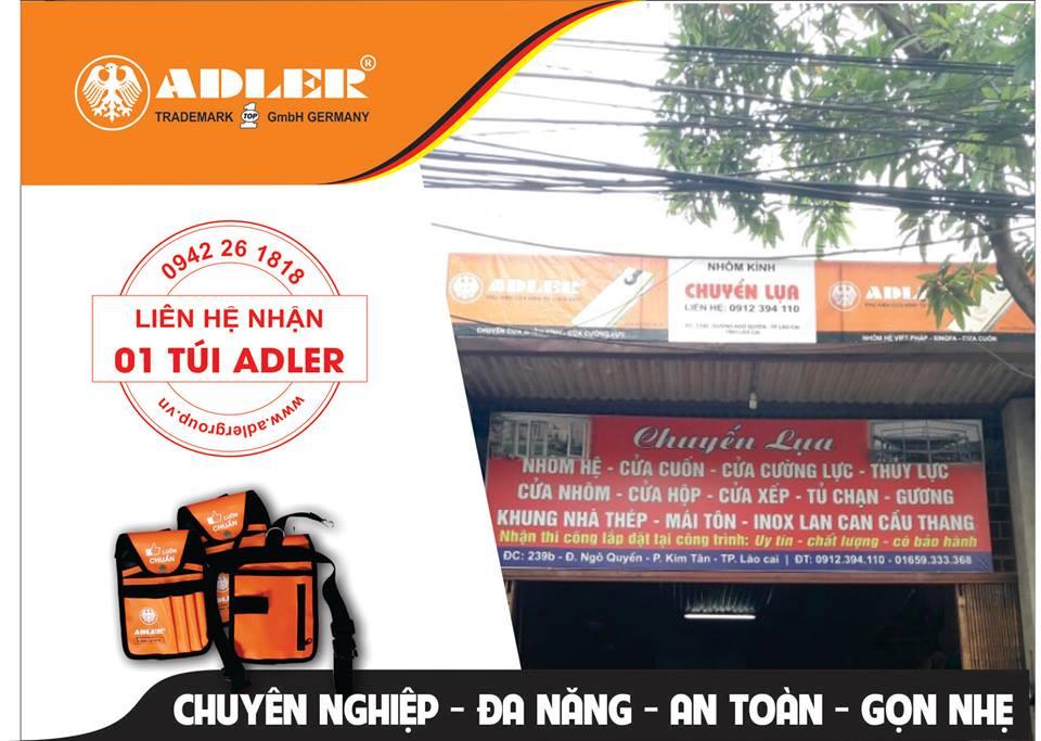Nhôm kính Chuyên Lụa cùng Adler đem đến sự hài lòng cho khách hàng.