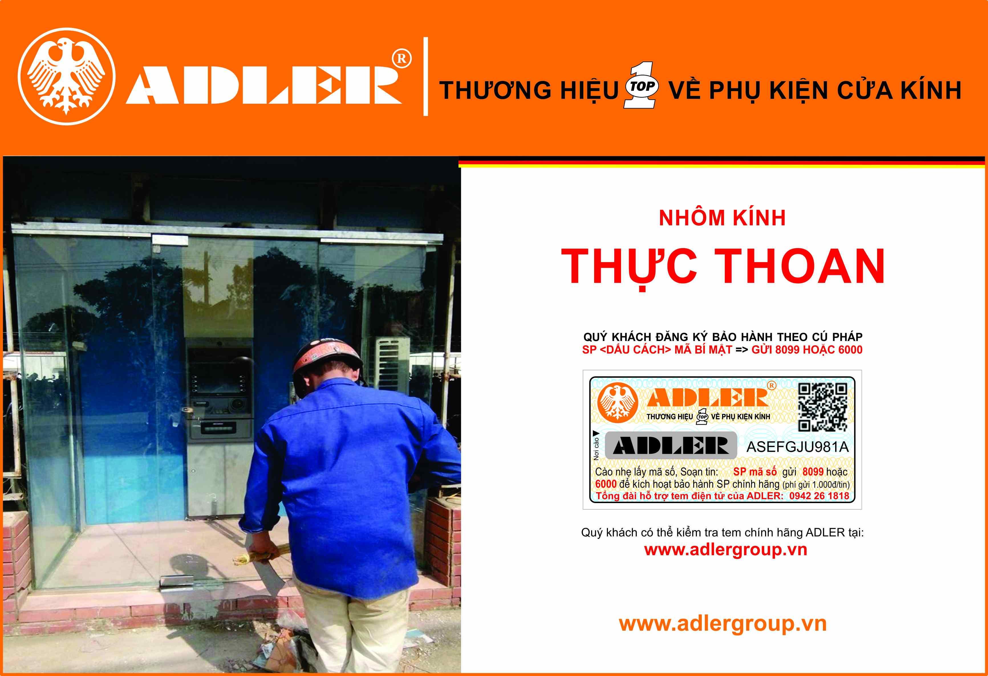 Adler và nhôm kính Thực Thoan