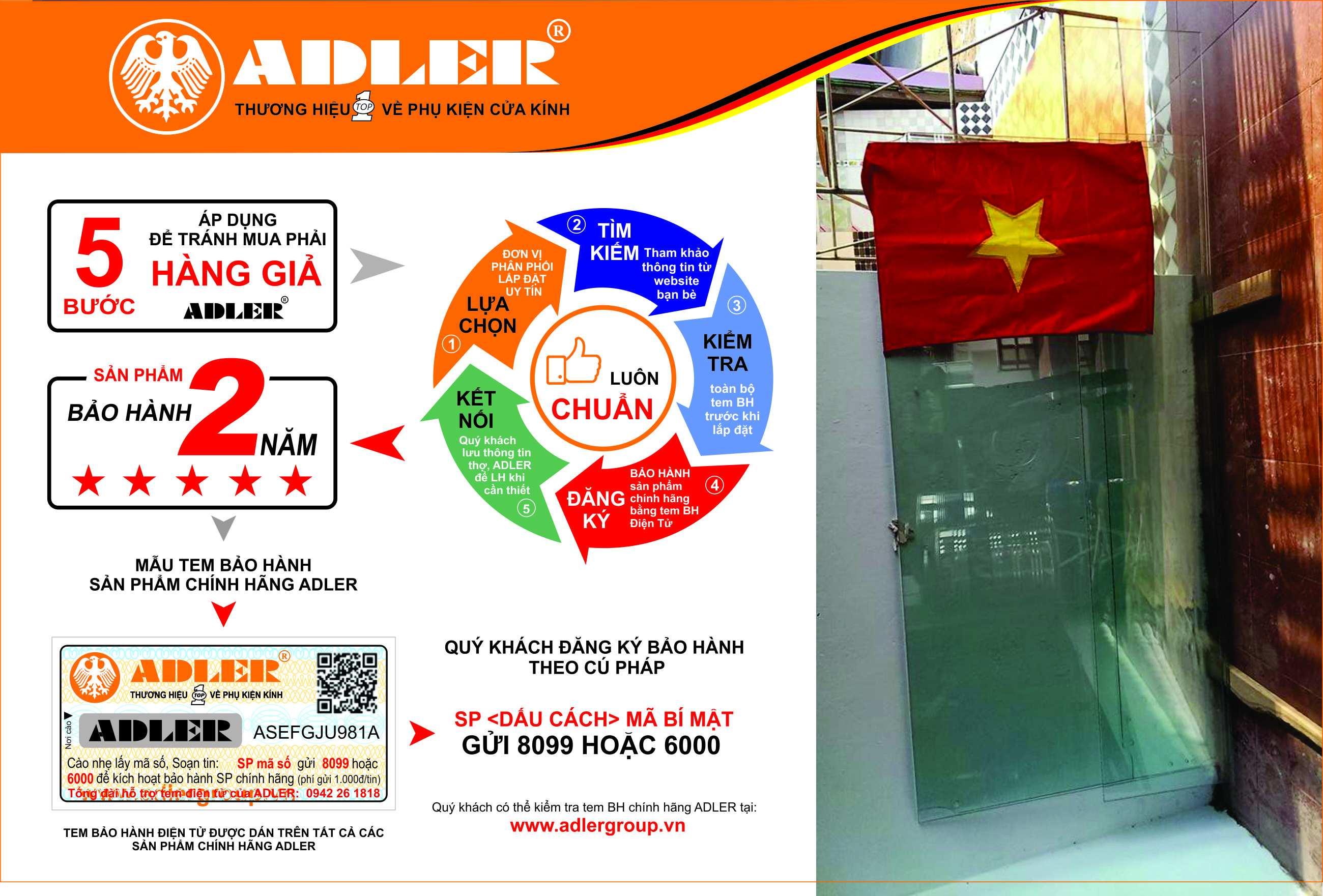Bản lề sàn Adler - sản phẩm top1 tại thị trường Việt Nam