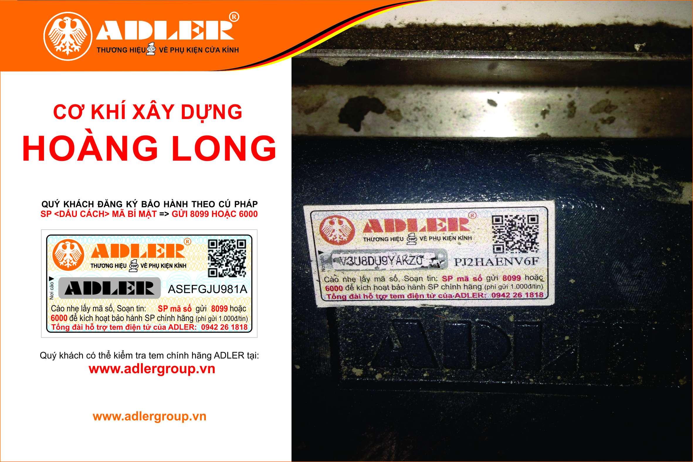Nhắn tin kích hoạt tem bảo hành điện tử Adler