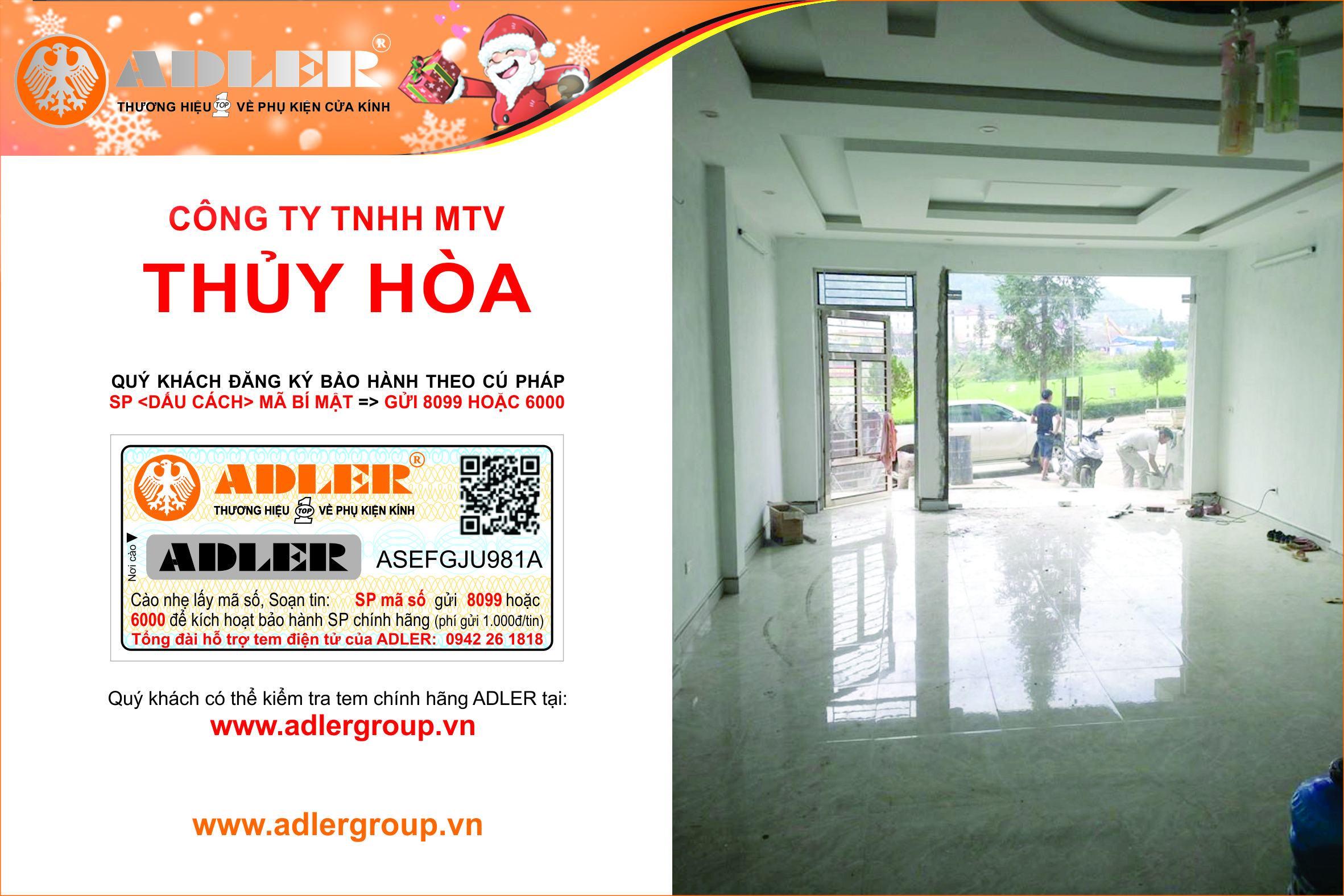 ADLER HOÀN BẢO HƠN CÙNG CÔNG TY TNHH MTV THỦY HÒA