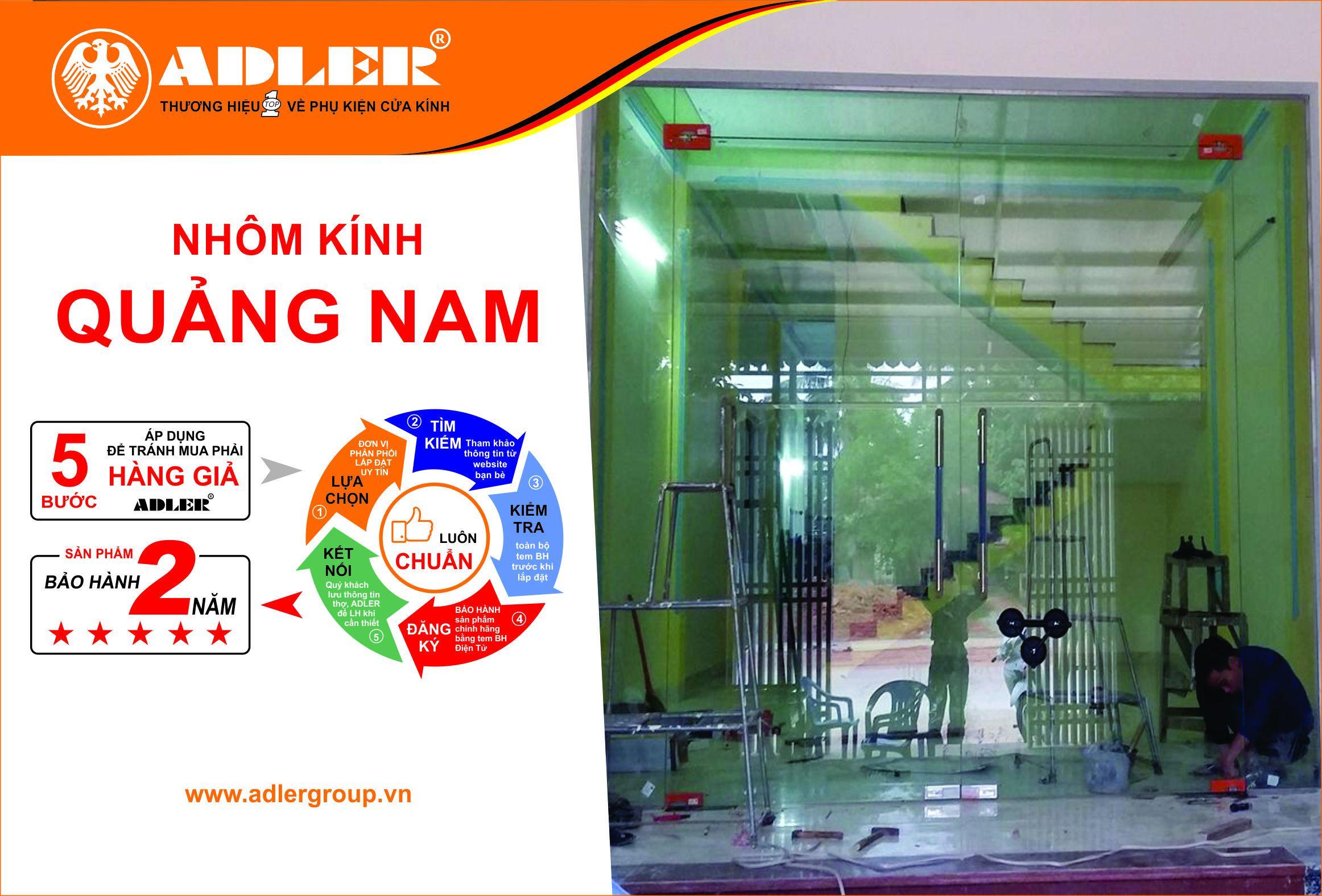 Cùng nhôm kính Quảng Nam trang trí bộ cửa kính với sản phẩm Adler