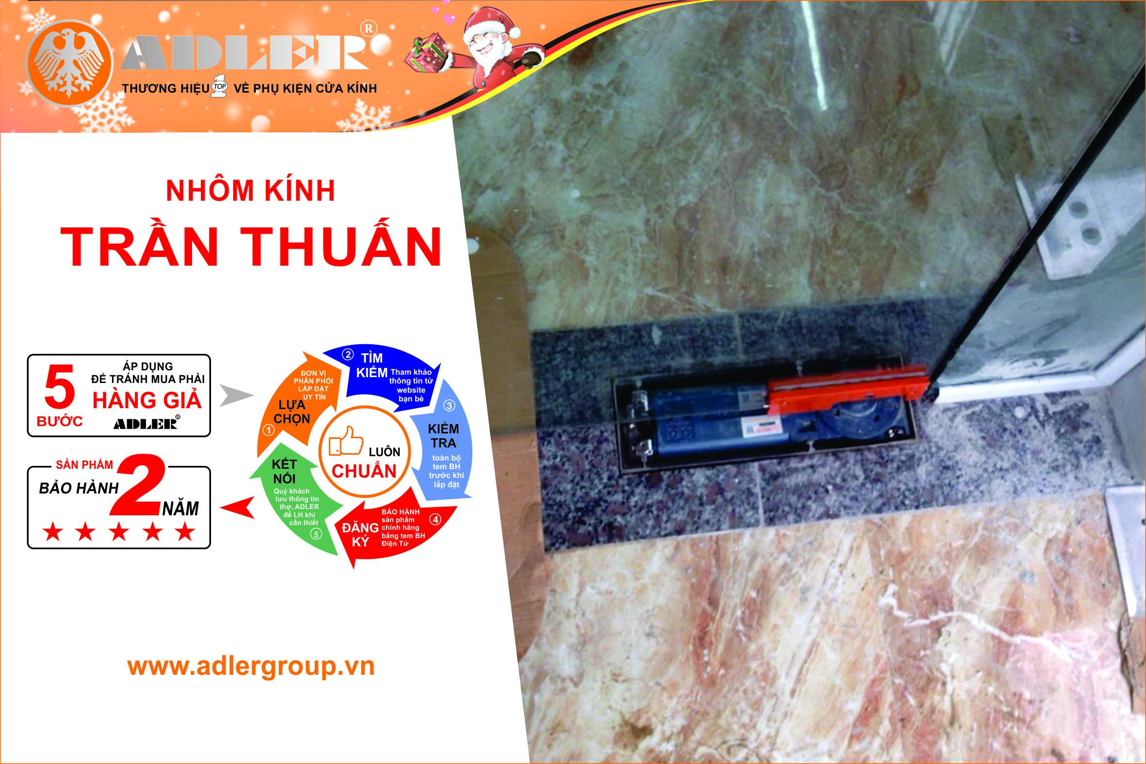Lắp đặt đồng bộ sản phẩm ADLERluôn là tiêu chí hàng đầu của nhôm kính Trần Thuấn