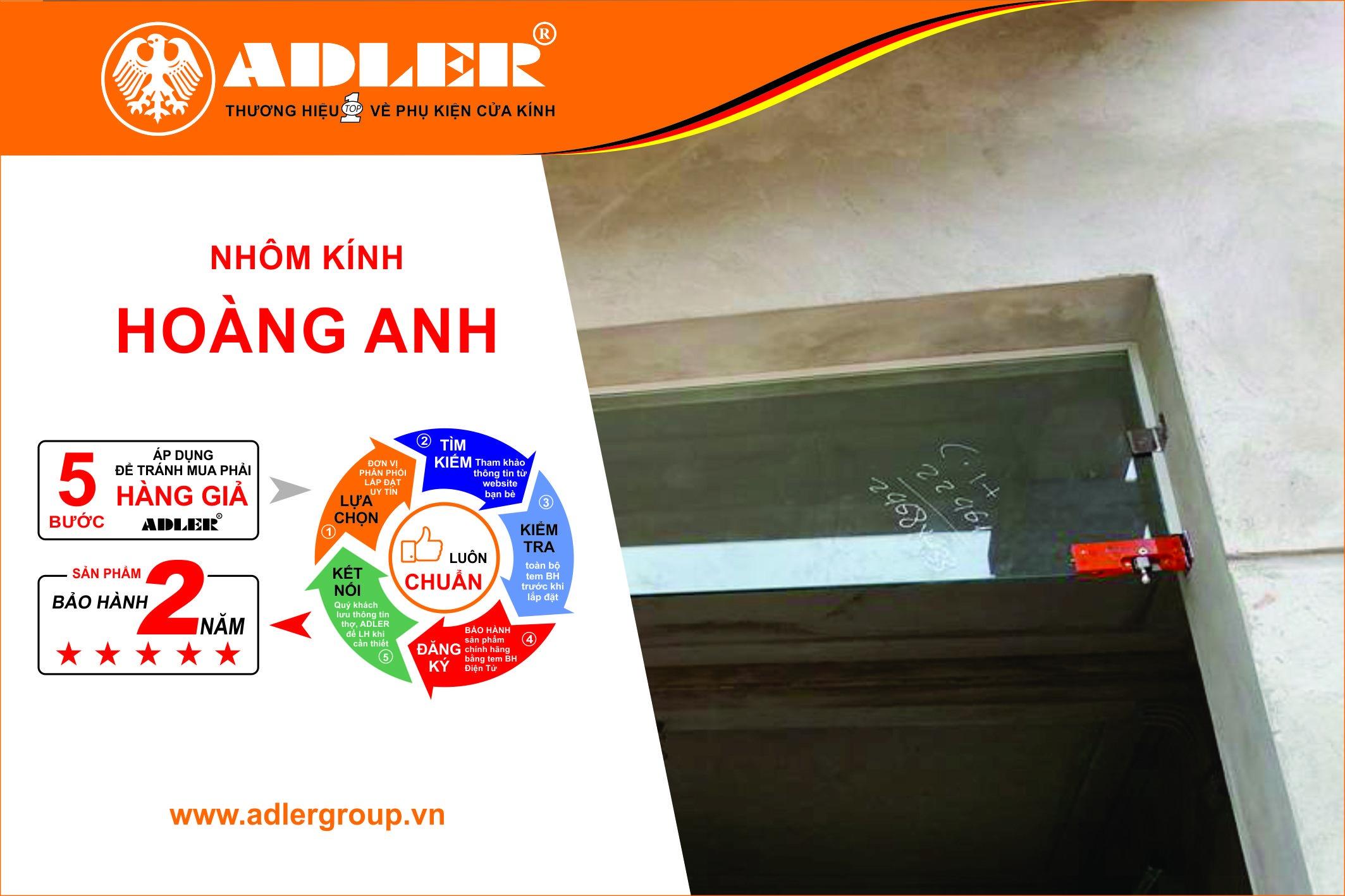 Bản lề sàn Adler chất lượng tạo nên thương hiệu