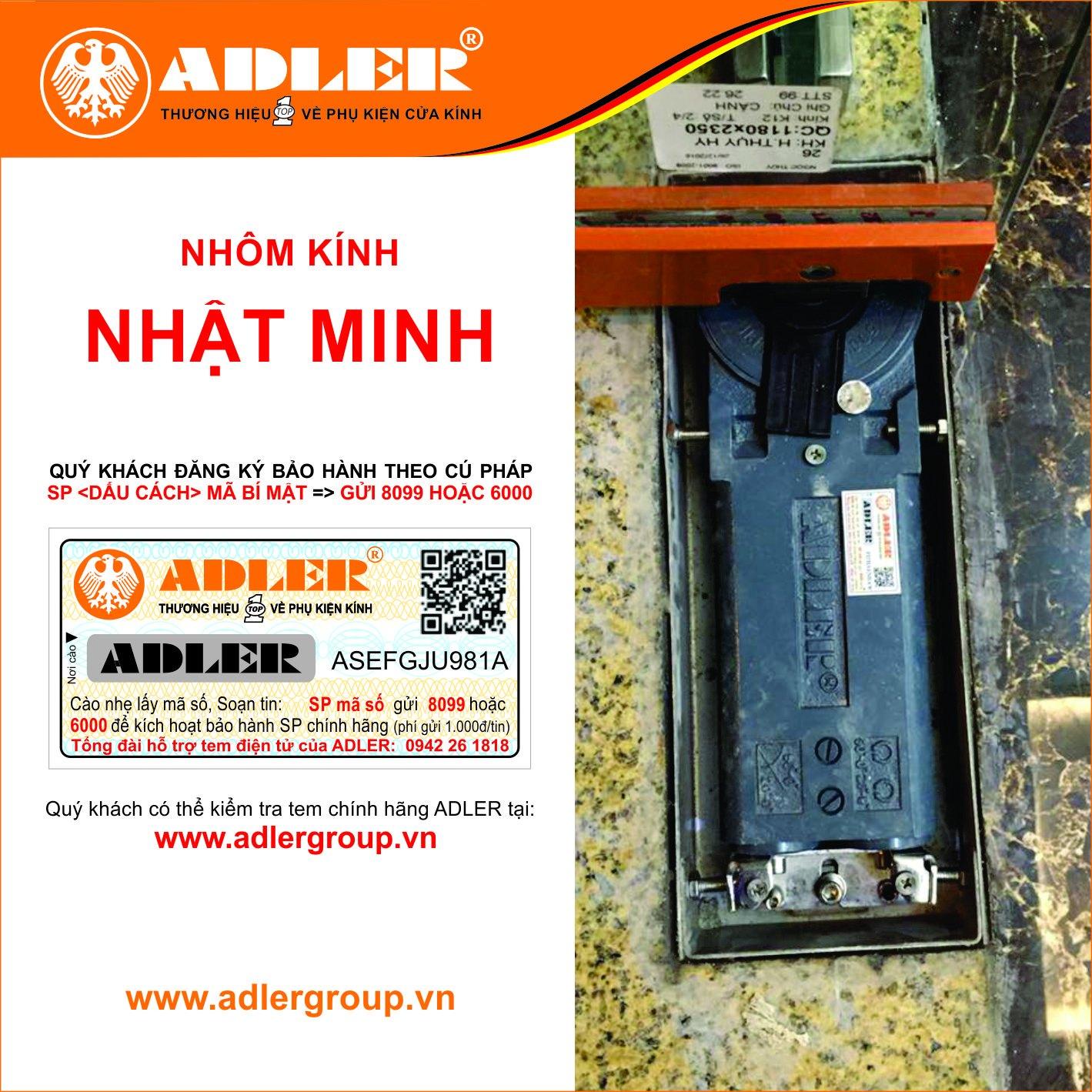 Cùng nhôm kính Nhật Minh kích hoạt tem bảo hành điện tử Adler nào!