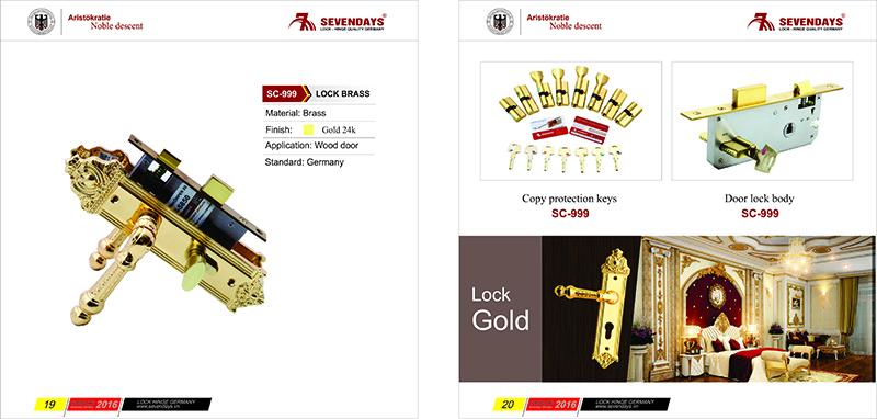 Khóa đồng vàng 24K - Thông phòng 7