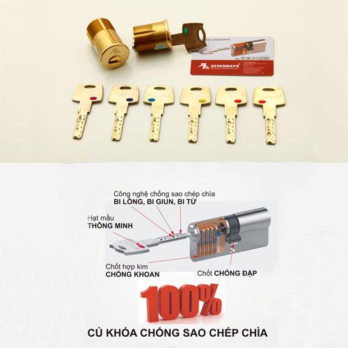 Củ khóa chống sao chép và bộ củ chìa Sevendays