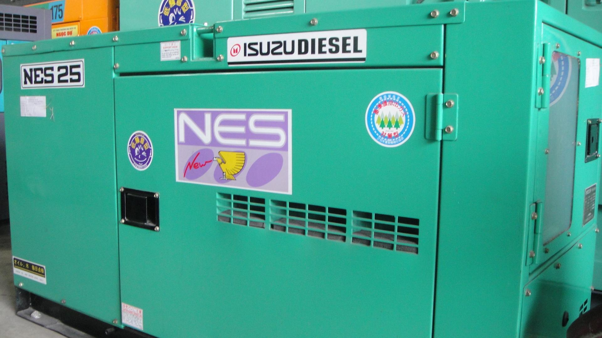 máy phát điện isuzu 25kva