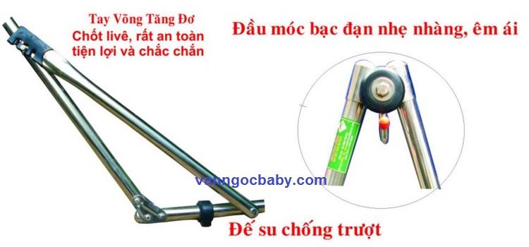 Bộ võng xếp ống 32 Sắt Sơn Tĩnh Điện