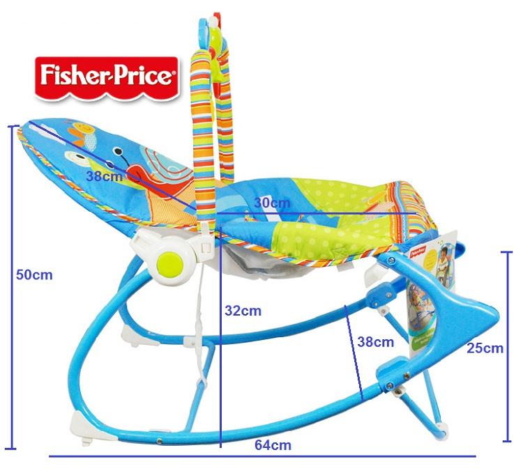 Ghế rung em bé Fisher – price – X7033 màu xanh