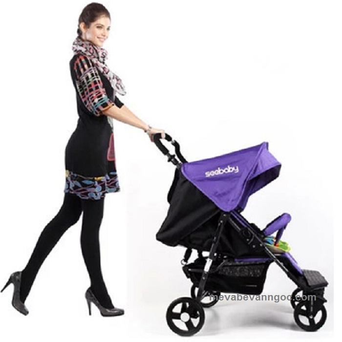Xe đẩy đôi cho em bé Seebaby T22