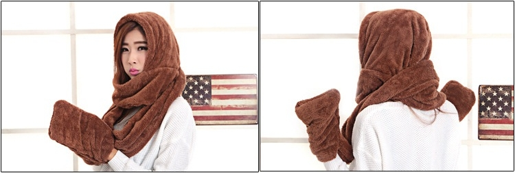 khăn mũ găng tay 3 trong 1