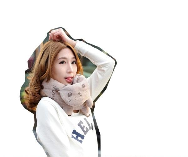 khăn bông quàng cổ hình xinh xăn