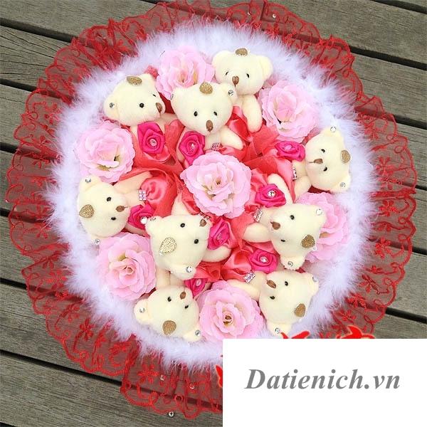 hoa gấu bông hà nội