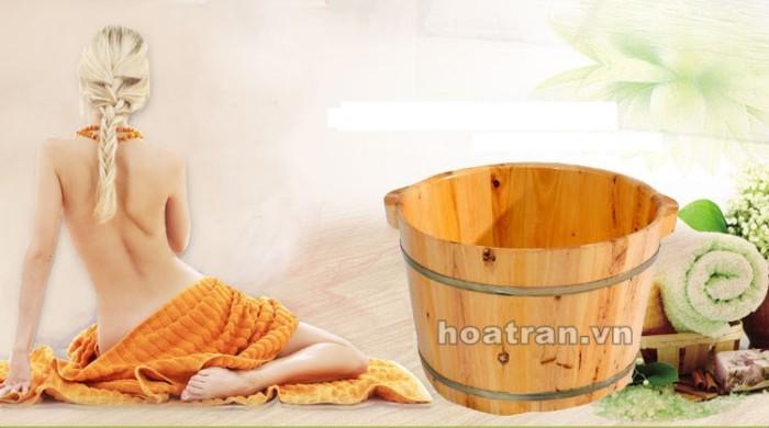 Chậu gỗ ngâm chân dành cho các spa chuyên nghiệp