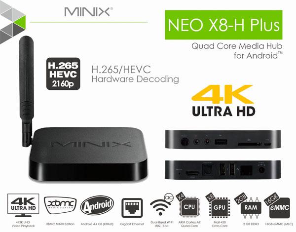 Android box TV Box Minix Neo X8-H Plus Chính Hãng Giá Rẻ