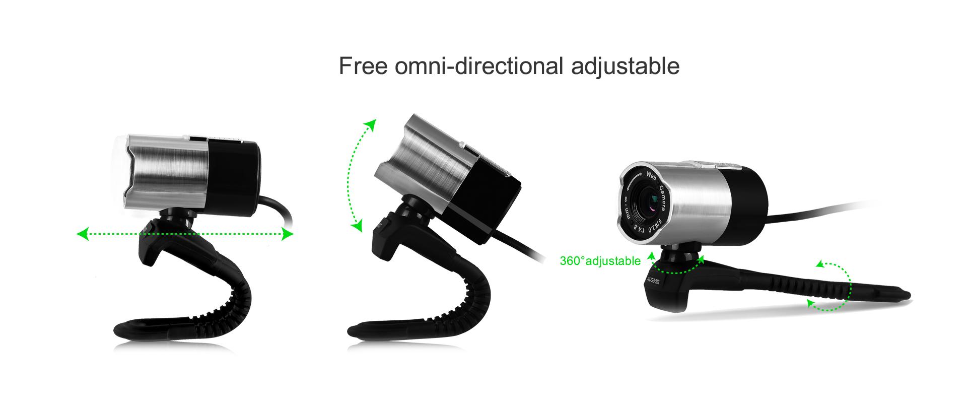 Webcam Ausdom AW335 full HD 1080p, 2mpx - 162536