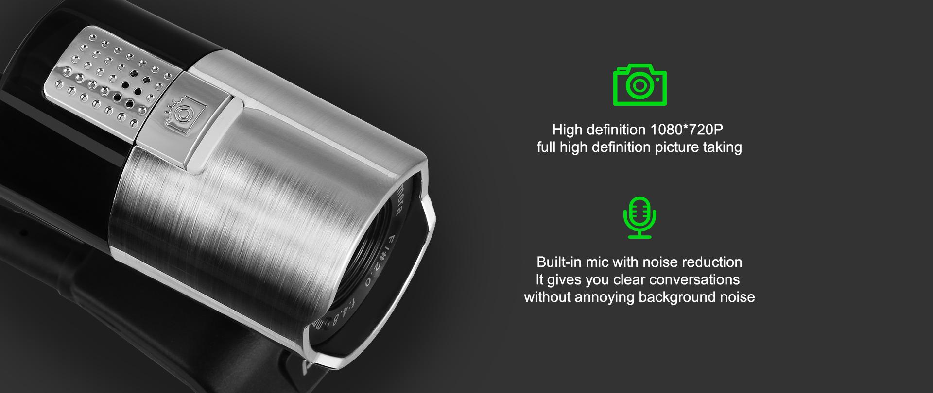 Webcam Ausdom AW335 full HD 1080p, 2mpx - 162537