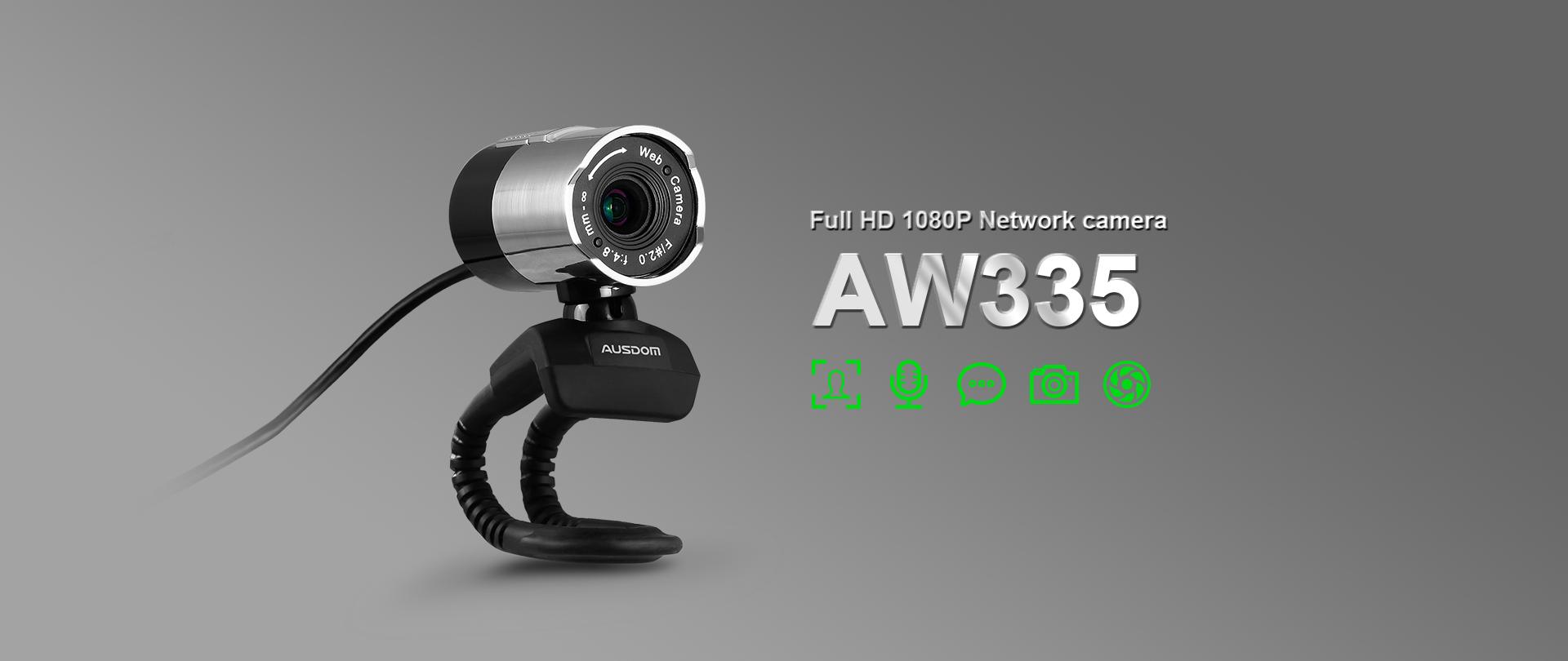 Webcam Ausdom AW335 full HD 1080p, 2mpx - 162533