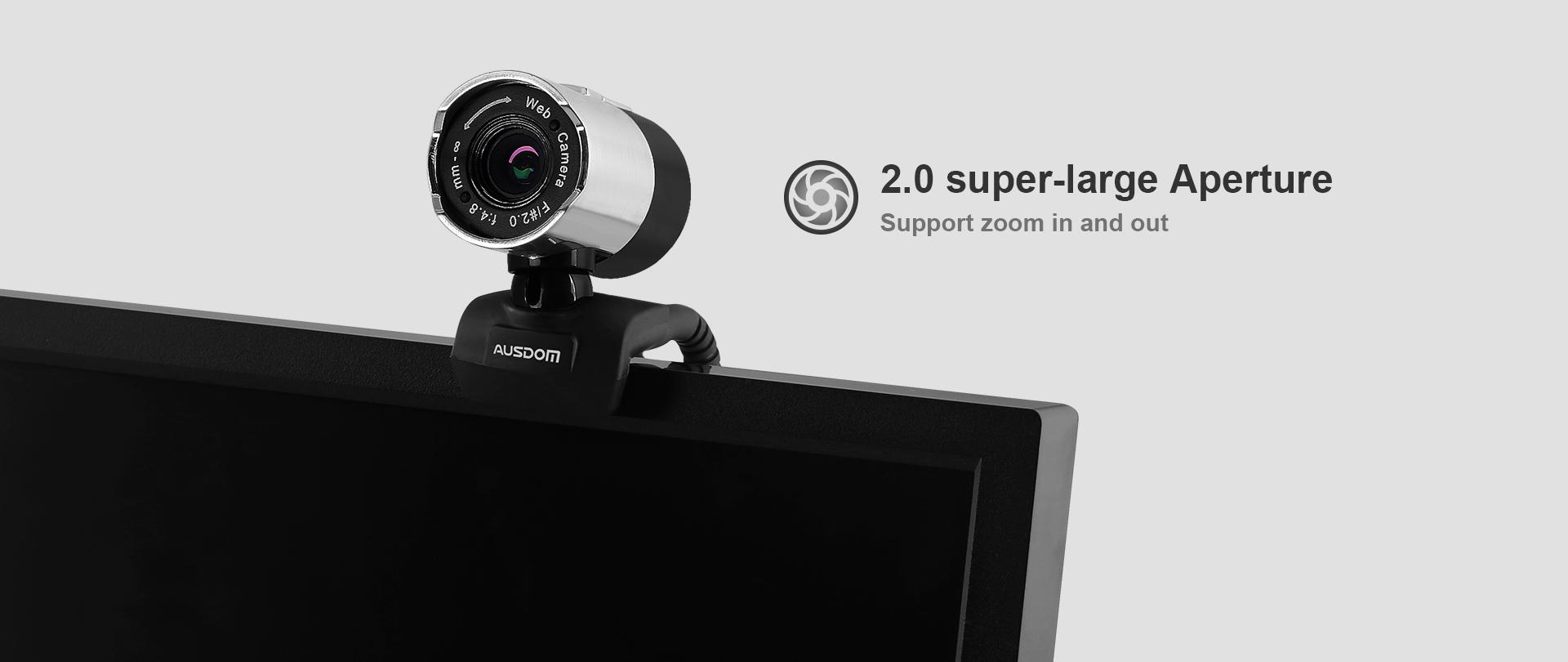 Webcam Ausdom AW335 full HD 1080p, 2mpx - 162535