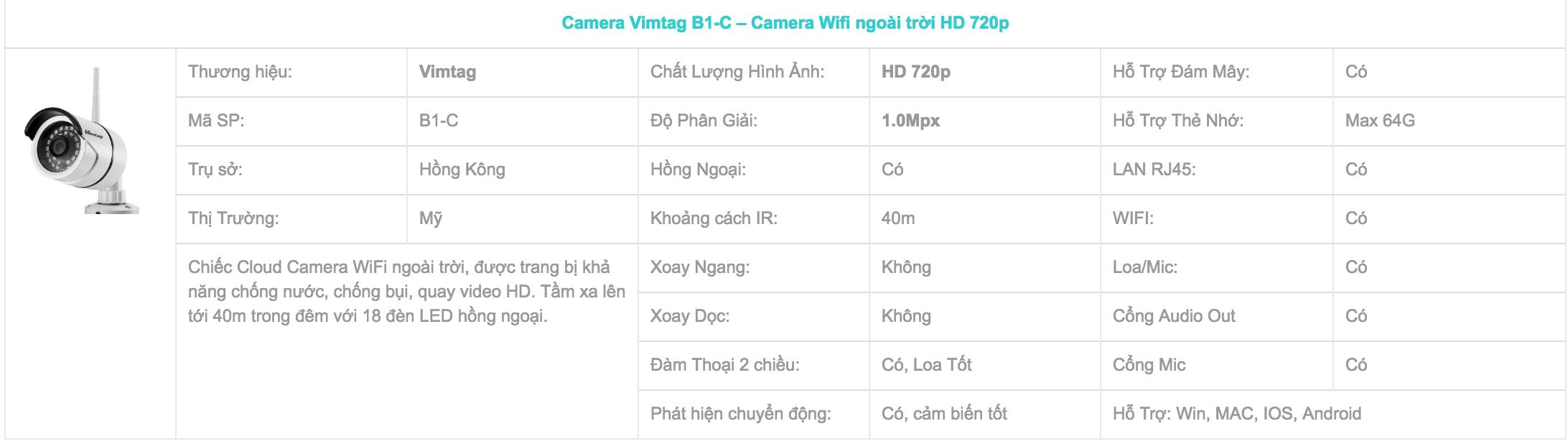 mô tả vimtag b1-c