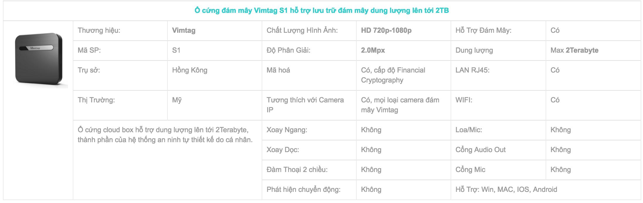 vimtag box s1 infor