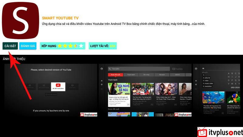 CHIA SẺ ] SMART YOUTUBE TV - LIÊN KẾT VỚI ĐIỆN THOẠI - HỖ TRỢ VIDEO 4K