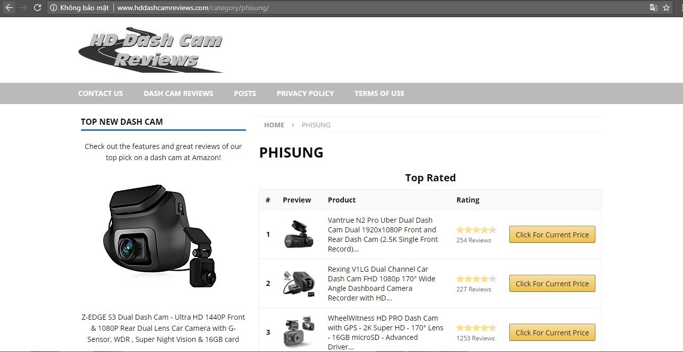 Những sản phẩm được đánh giá nhiều nhất từ Phisung