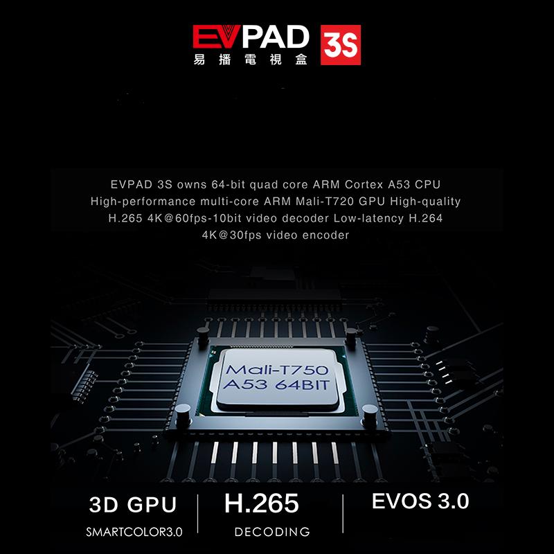EVPAD 3S (MODEL 2019) - XEM TRUYỀN HÌNH NHẬT BẢN, HÀN QUỐC