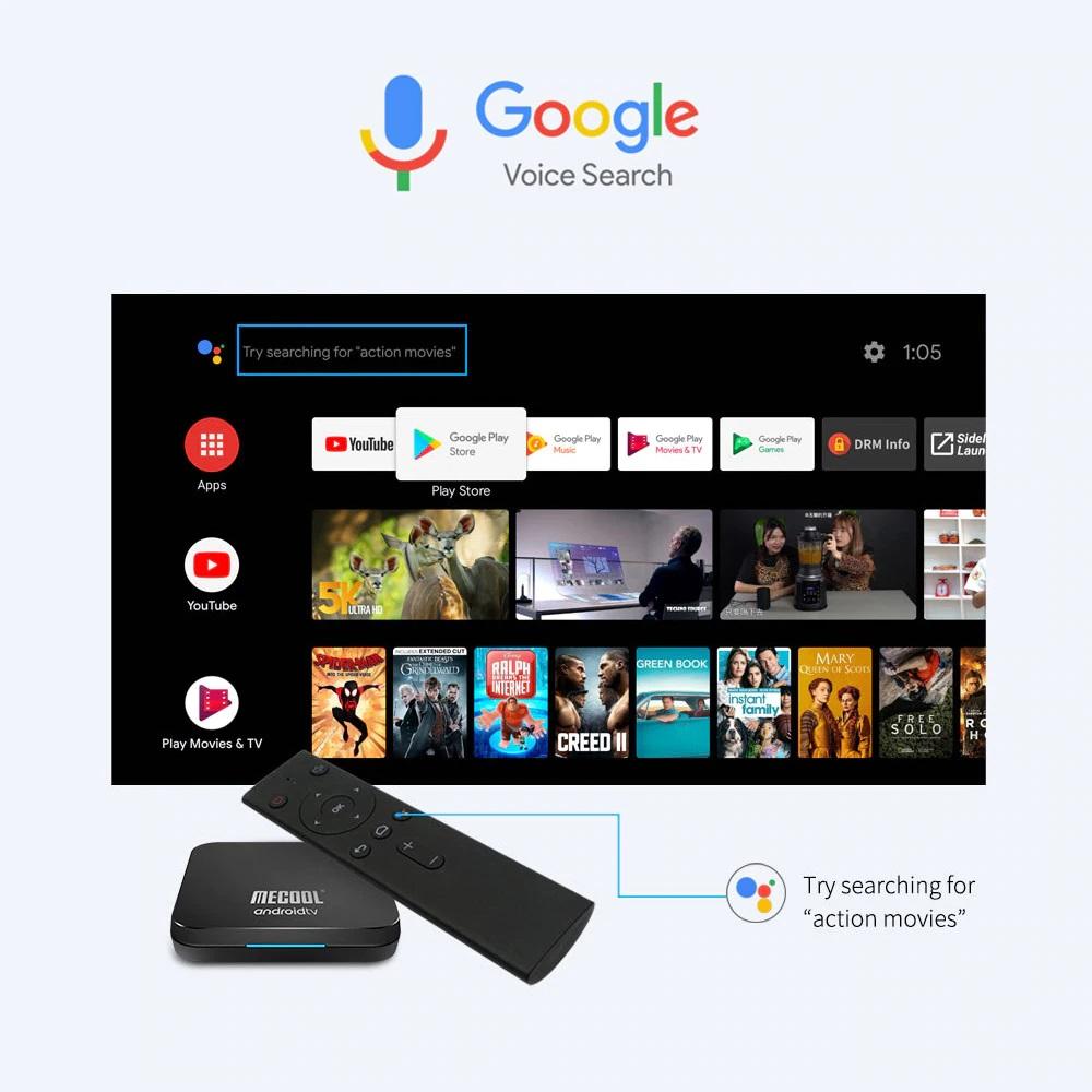 Android Tivi Box Mecool KM9 kèm điều khiển giọng nói
